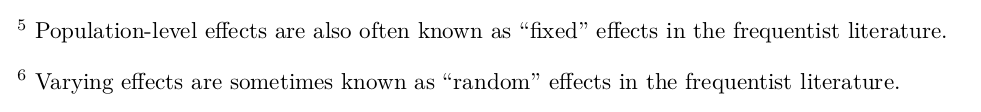 """Let's rename """"fixed"""" to """"Population-level"""" and """"Random"""" to"""